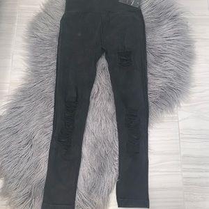Pants - Never worn seamless distressed leggings